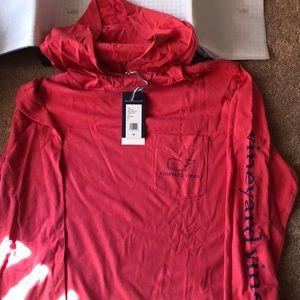 NWT Vineyard Vines long sleeve hooded t-shirt